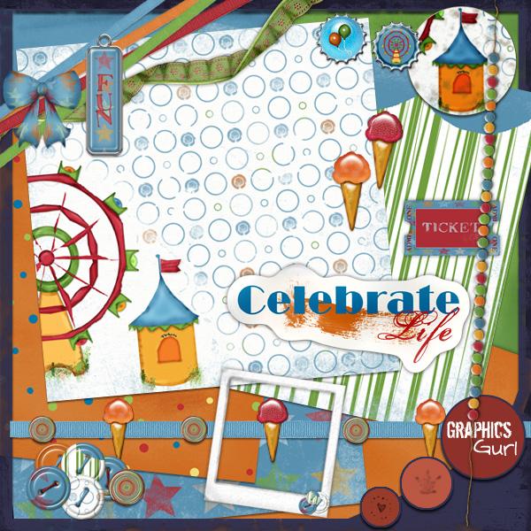 Carnival Scrapbook Kit Digital Scrapbooking Free Site Blog