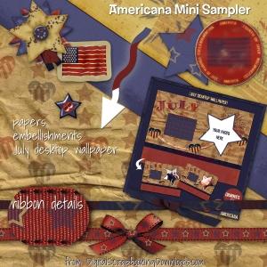 Free Digital Scrapbooking Kit - Americana